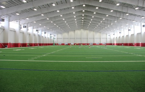 Football practice kicks off in new fieldhouse