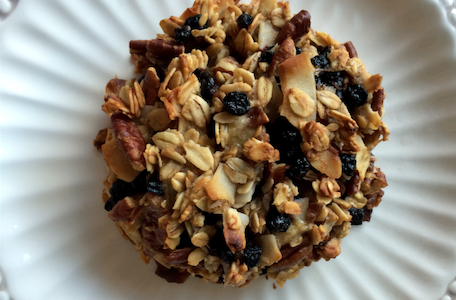 Hearty, wholesome and delicious; Blueberry Coconut Pecan Breakfast Cookies that stay with you all morning