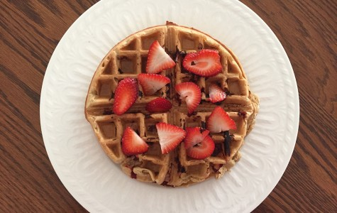 Go bananas for vegan strawberry-banana waffles