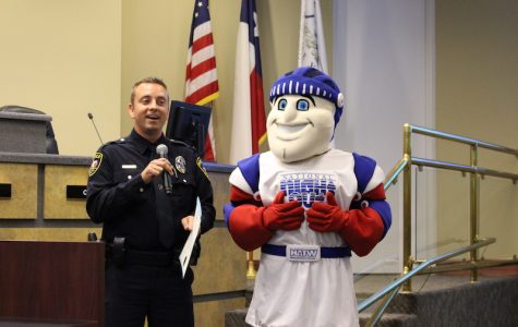 National Night Out Knight makes an appearance at City Council meeting