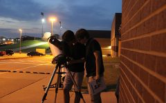 Unique learning environment shines with science students at star gazing party