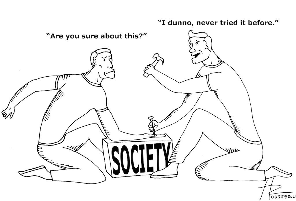 Cartoon by Thomas Rousseau
