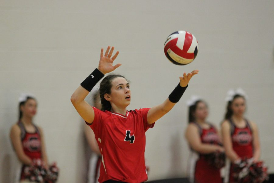 Coppell+junior+Sam+Silver+serves+the+ball+during+the+Cowgirls%27+win+in+straight+sets+vs.+Garland+in+the+first+round+of+playoffs.