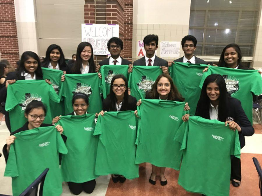Health+Occupational+Students+of+America+%28HOSA%29+members+stand+with+their+T-shirts+at+the+area+competition+on+Feb.+17+and+18+at+Centennial+High+School+Frisco.+93+Coppell+High+School+students+participated+and+around+20+advanced+to+the+state+competition%2C+which+will+be+held+in+Corpus+Christi+from+March+31+to+April+1.