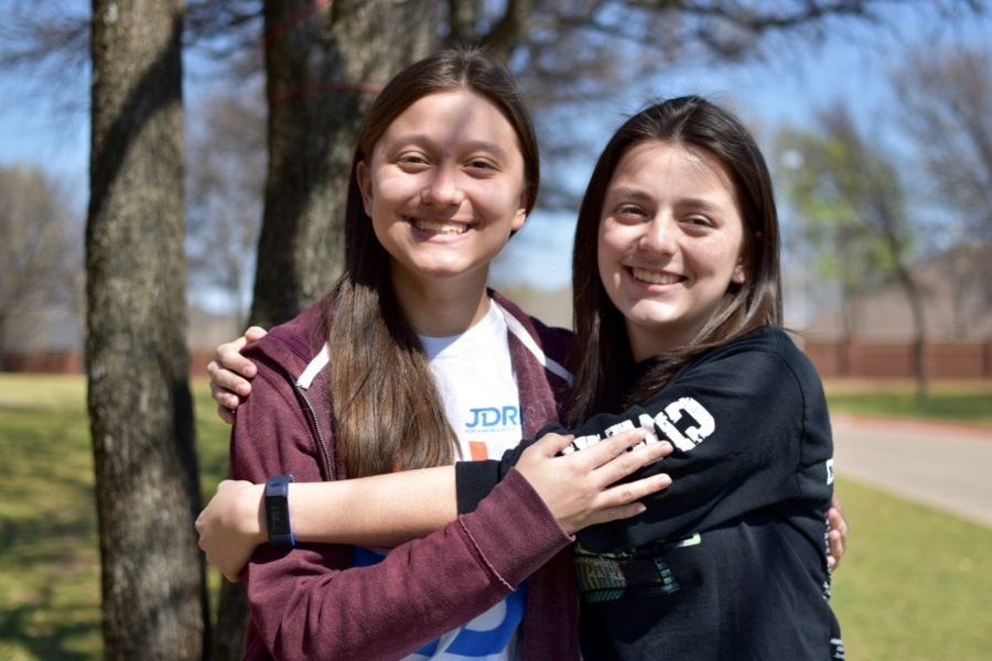 Coppell+High+School+freshmen+Abby+Ramos+%28+left%29+and+Alyssa+Ramos+%28right+%29+are+twins+yet+they+have+very+different+interests.+The+Ramos+sisters+enjoy+different+activities+yet+they+still+share+a+special+bond.+%0A