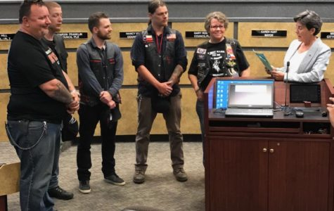 Bikers raise awareness at City Council meeting