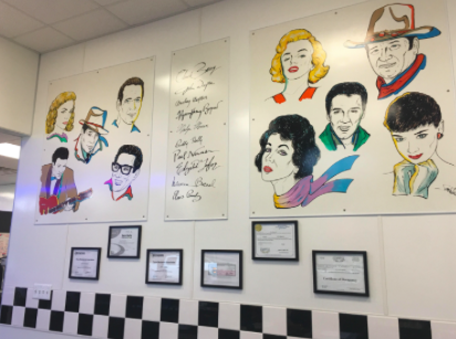 Local Diner's classic food and retro appearance attracts customers