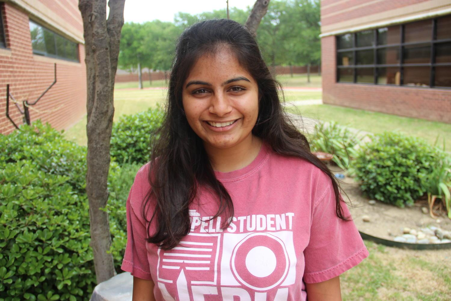Senior+Sakshi+Venkatraman+reflects+on+her+time+at+CHS+and+her+feelings+about+leaving+for+college.+Photo+by+Amanda+Hair.+