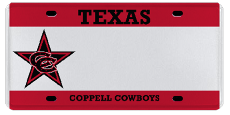 New Coppell Cowboy license plates make debut