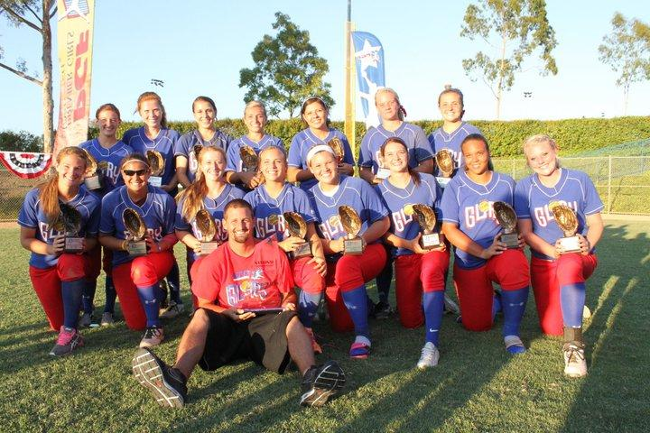 CHS Varsity softball players Erika Zimmer and Alicia Van Winkle played for the Texas Glory Softball when they won second place at national's in California this summer. Photo courtesy Erika Zimmer.