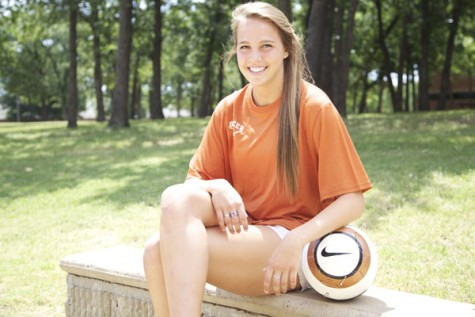 After four successful years on the as a varsity soccer player, Lindsey Meyer will be playing at the University of Texas at Austin this fall. Photo by Ivy Hess.