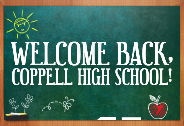 Welcome back, Coppell High School!