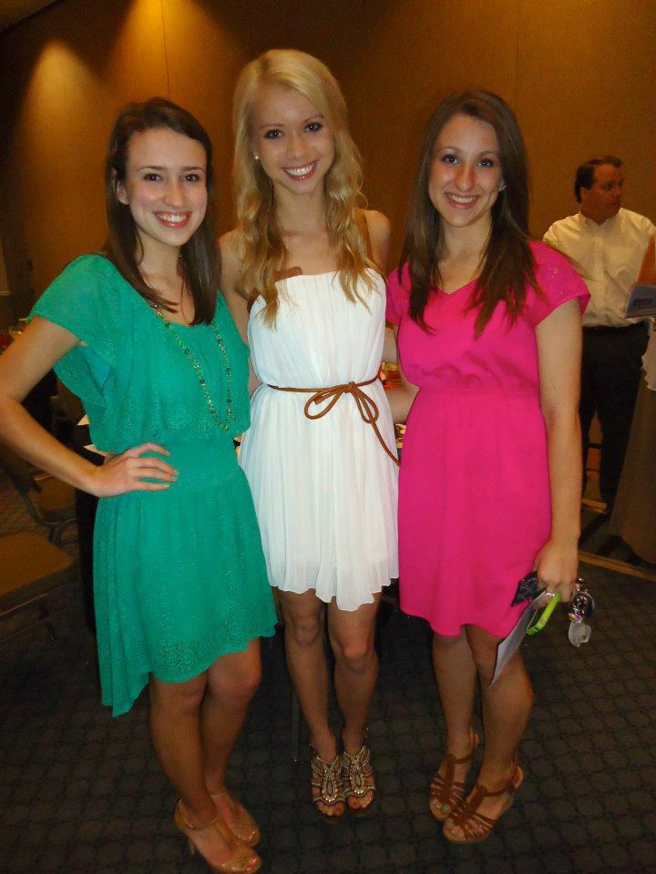 This is actually a picture from last year's Sidekick banquet that was towards the end of the year.  I'm the one in green.