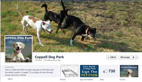 Print screen of the Facebook group: Coppell Dog Park.