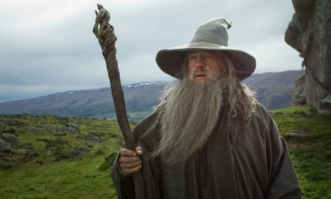 Ian McKellen as the Wizard Gandalf the Grey in the fantasy adventure,