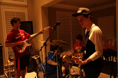 Backstage look at local band