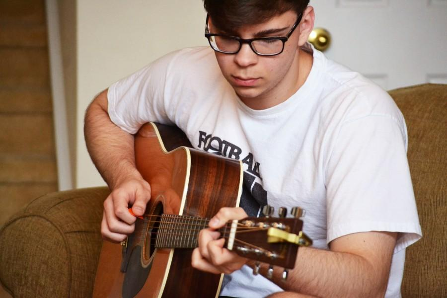 Senior Chris Capezzuto has always felt a connection with music. Capezzuto frequently posts cover songs to his Youtube channel: Chris Capezzuto.