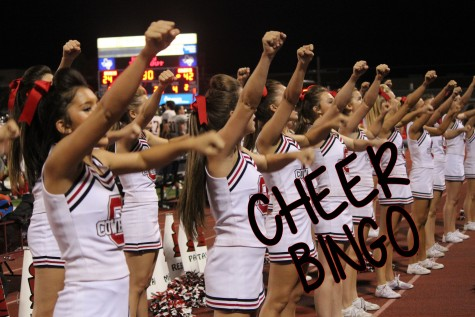 Cheerleaders prepare for night of bingo