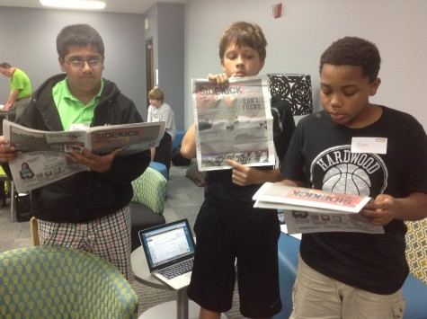 Middle school students experience backpack journalism during media shadow day