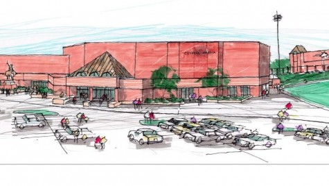 An archiectural sketch of Coppell Arena, a new addition to the Coppell High School campus in the fall of 2016. the arena was part of the bond package that passed in May 2013. Photo courtesy of Sid Grant.