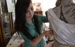 Hitz designs, creates her own prom dress, finishes just in time for big dance