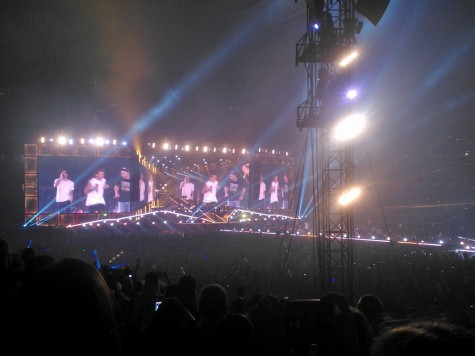 After a short break halfway through One Direction's performance, the boy-band returned to perform the second half starting off with