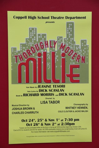 Thoroughly Modern Millie will open on Friday and play on Saturday, Sunday,  Nov. 1 and 2. Photo by Pranathi Chitta.