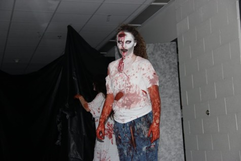 Haunted halls of New Tech High gives students a scare