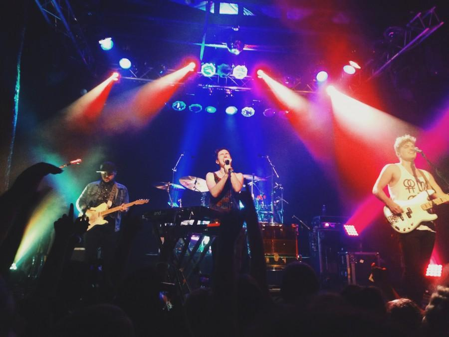 Indie rock band Walk the Moon performing at Trees in Deep Ellum on Oct. 25. Photo courtesy Emma Ginnell.