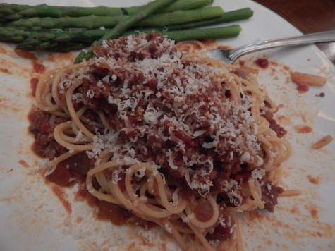 Serve this rendition to spaghetti and meat sauce as a main course to any Italian meal. Photo by Chloe Moino
