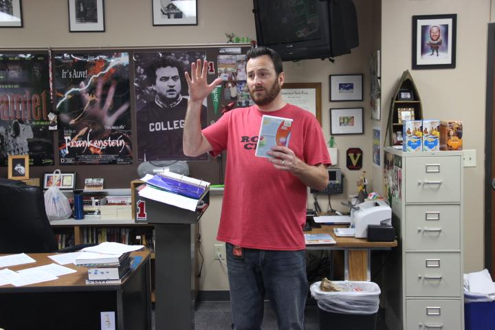 Creative writing teacher Matt Bowden teaches his fifth period class. All of Bowden's creative writing students are required to submit a work to the CLAM (Coppell Literary Arts Magazine) as part of their curriculum. The CLAM is currently taking submissions for the 2015 year.