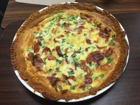 This quiche features salty pancetta (italian bacon) and three different types of cheese. It is super decadent even without heavy cream. Photo by Kelly Monaghan