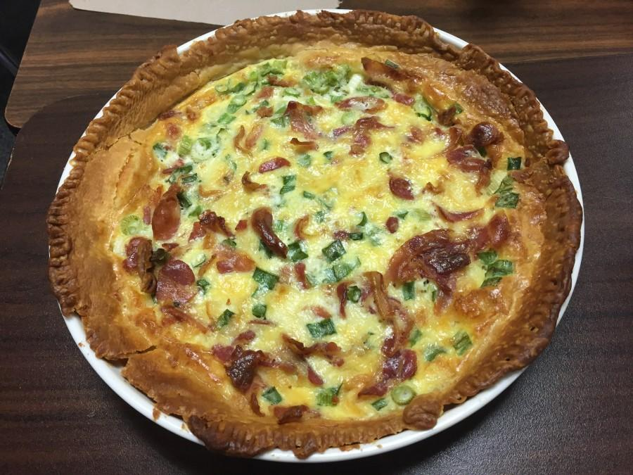 This+quiche+features+salty+pancetta+%28italian+bacon%29+and+three+different+types+of+cheese.+It+is+super+decadent+even+without+heavy+cream.+Photo+by+Kelly+Monaghan