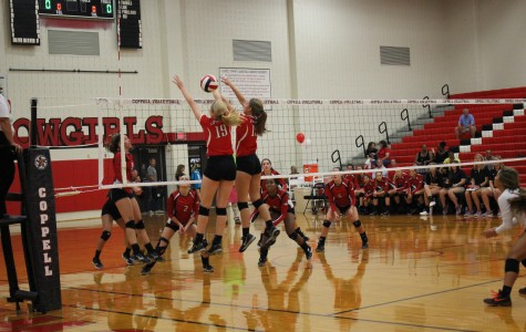 Stivers takes winning kill in three set victory over Burleson