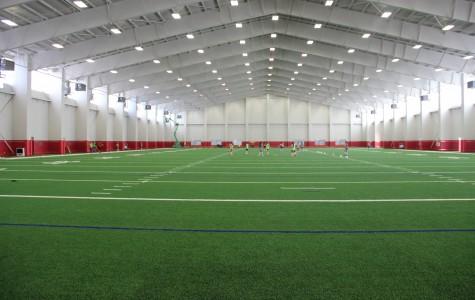 Football practice kicks off in new fieldhouse