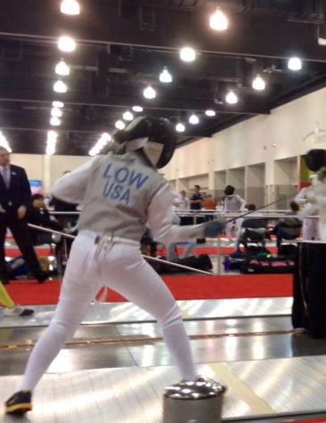 Low practices the unique sport of fencing
