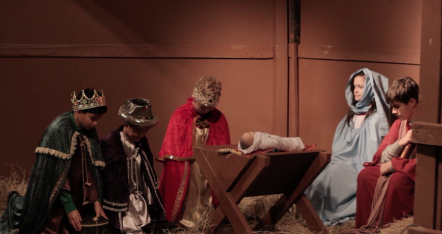 St. Ann Youth spreading Christmas spirit through Live Nativity (with video)