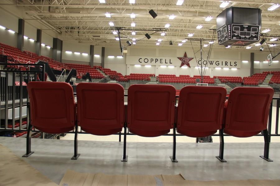 After over a year of construction, Coppell High School's new arena is almost finished. Final touches will be made throughout the next two weeks, and it is expected to be completed for the boys basketball team's final game.
