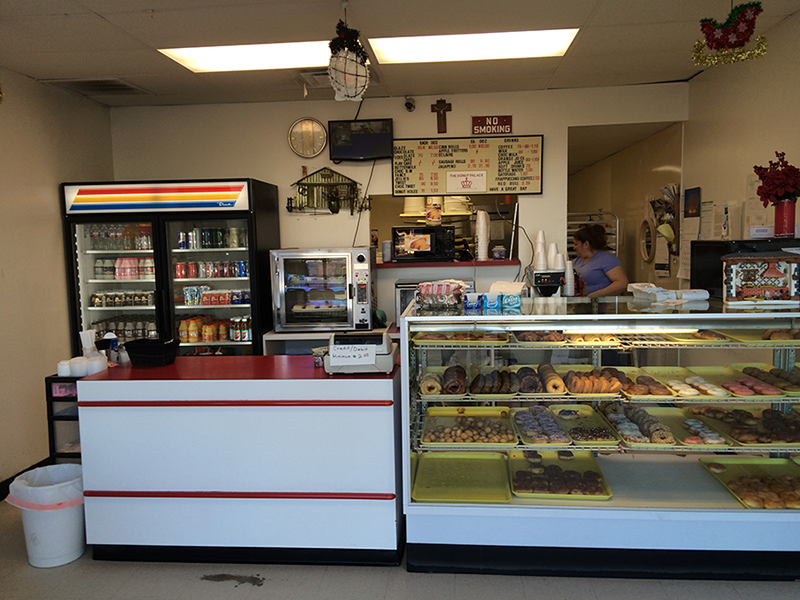 The Donut Palace offers a wide variety of donuts and kolaches. The Donut Palace is located near Speedy K and Family Video. Photo by Aubrie Sisk.