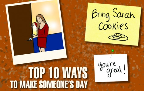 Top 10 ways to make someone's day