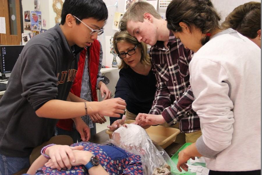 Student artists add dimension to art