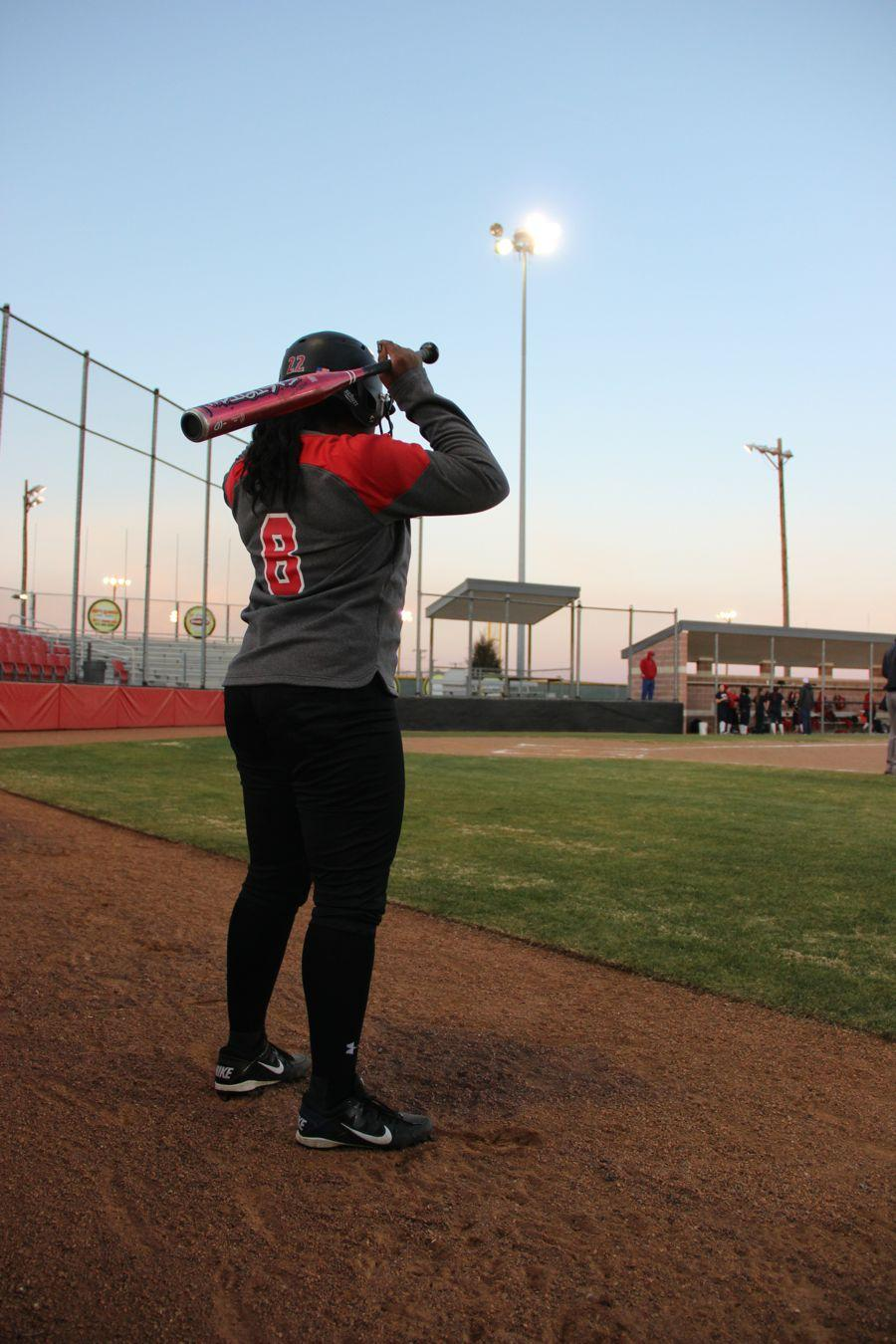 Coppell+High+School+junior+Adaqu+Ngwu+waits+to+bat+at+the+Coppell+ISD+baseball%2Fsoftball+complex.+Coppell+JV+II+scrimmaged+against+Allen+on+Monday.%0A