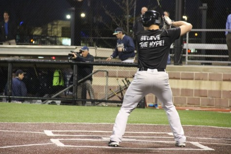 Coppell High School junior infielder Trey Becerra bats during the fifth inning Monday night at the scrimmage against Jesuit. Jesuit beat Coppell, 11-10, at the Jesuit High School baseball fields in Dallas.