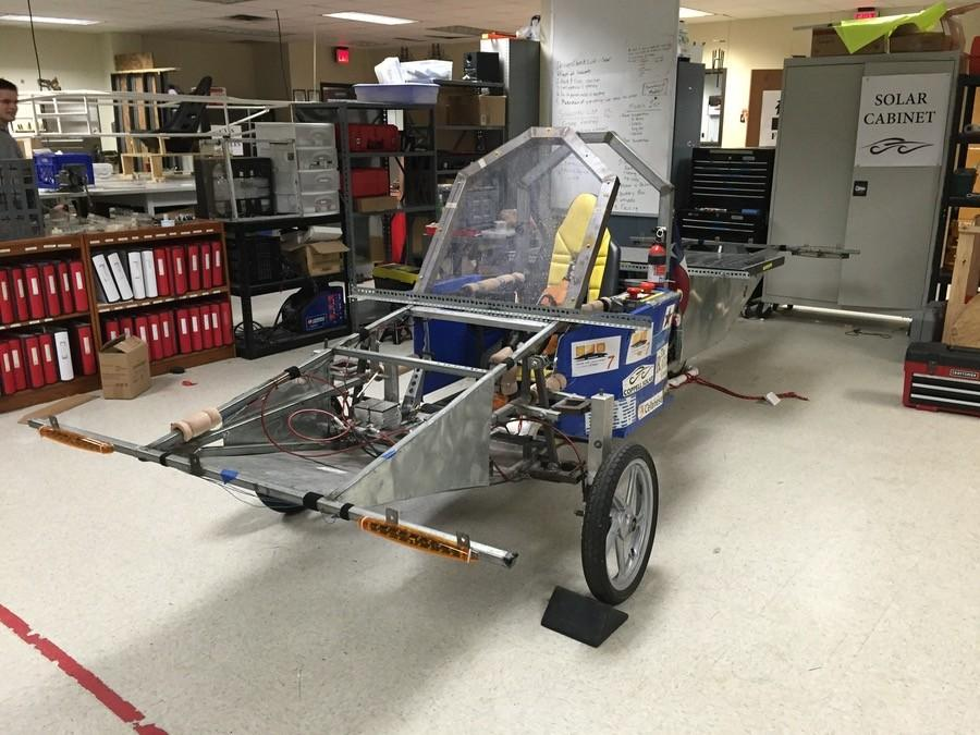 "Coppell High School's solar car team has built the car ""Aurora"" over the past 6 years, every year making changes to improve chances of placing in annual races. This year, club members will be driving their new vehicle ""Outlaw"" from Texas Motor Speedway to Minneapolis over the course of the six day race."