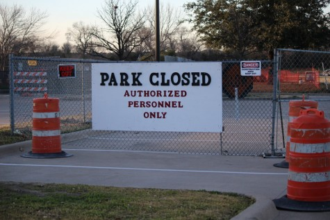 Andrew Brown Park East is closed off to the public while it is being renovated over the next 18 months. The construction is expected to be done in the fall of 2017 and will include a new pavilion and re-branded sports areas. Photo by Kelly Monaghan.