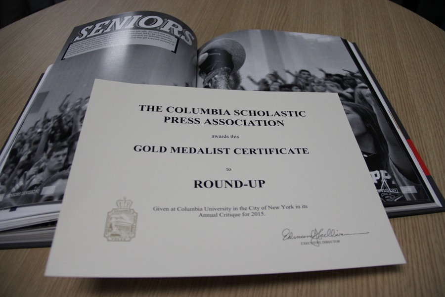 The+Round-Up%2C+Coppell+High+School%E2%80%99s+yearbook+received+the+Gold+Crown+from+the+Columbia+Scholastic+Press+for+its+2014-2015+edition