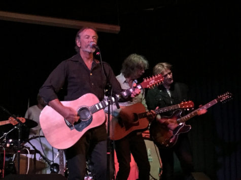 "Steve Kilbey (left), Peter Koppes (center), and Ian Haug (right) perform ""Laurel Canyon"" at Sons of Hermann Hall. The Dallas stop was the first show of the tour."