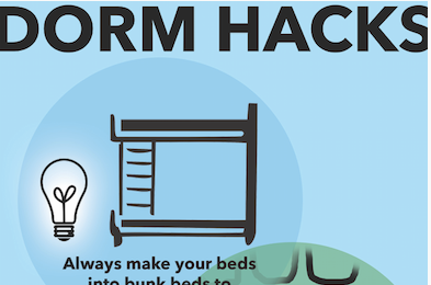 College Series: How to utilize every inch of your dorm