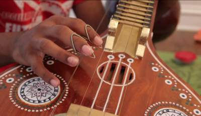Coppell Senior plays ancient Indian Instrument, The Veena