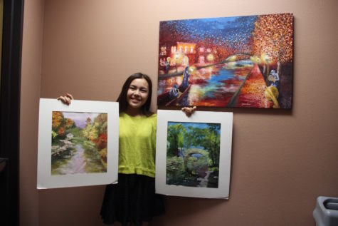 Lau showcases talent by selling artwork (Q&A)